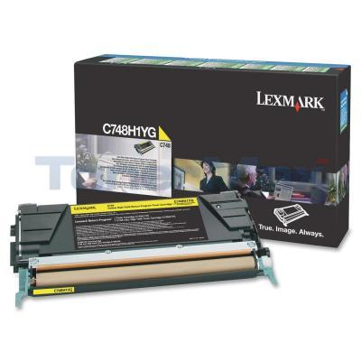LEXMARK C748 TONER CARTRIDGE YELLOW RP HY